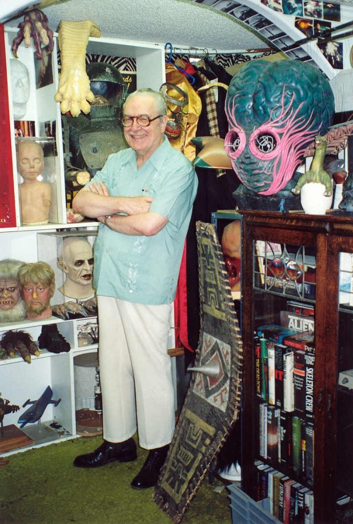Forrest J Ackerman at his Ackermansion, 1990 - photo by Alan Light