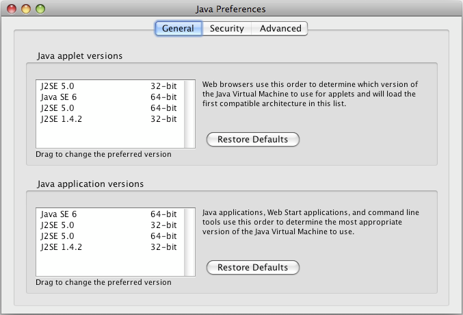 Easy Java Version Selection in OS X