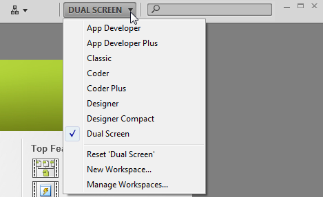 Dreamweaver Workspaces